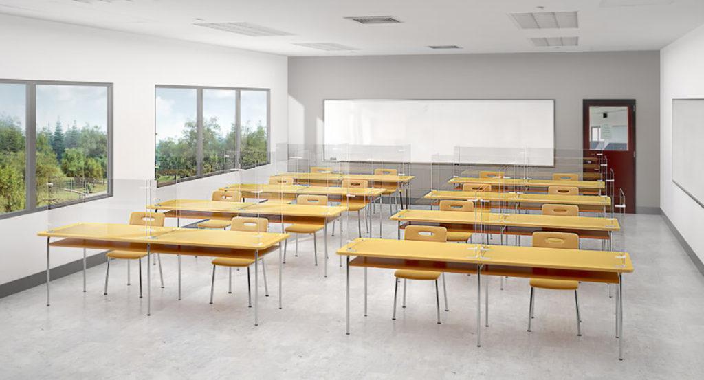 Screens in classroom