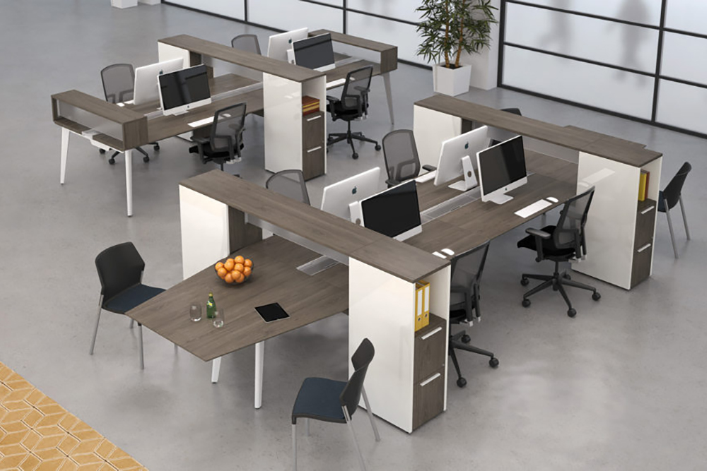 Collabrative workstation with meeting area