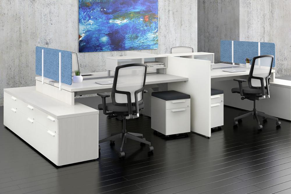 White benching workstation
