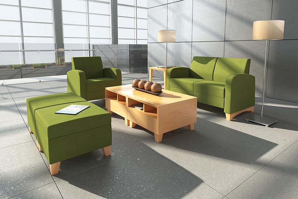 Green lobby chairs
