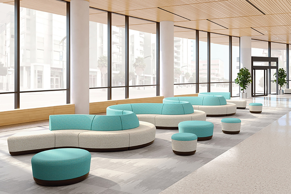 S shaped sectional seating