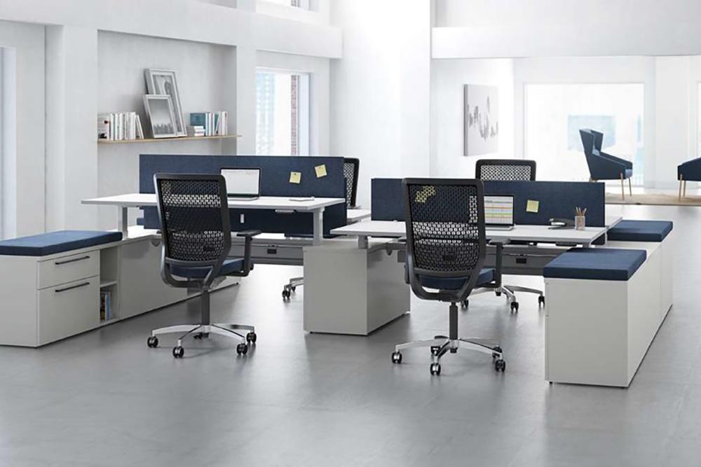 Blue workstation