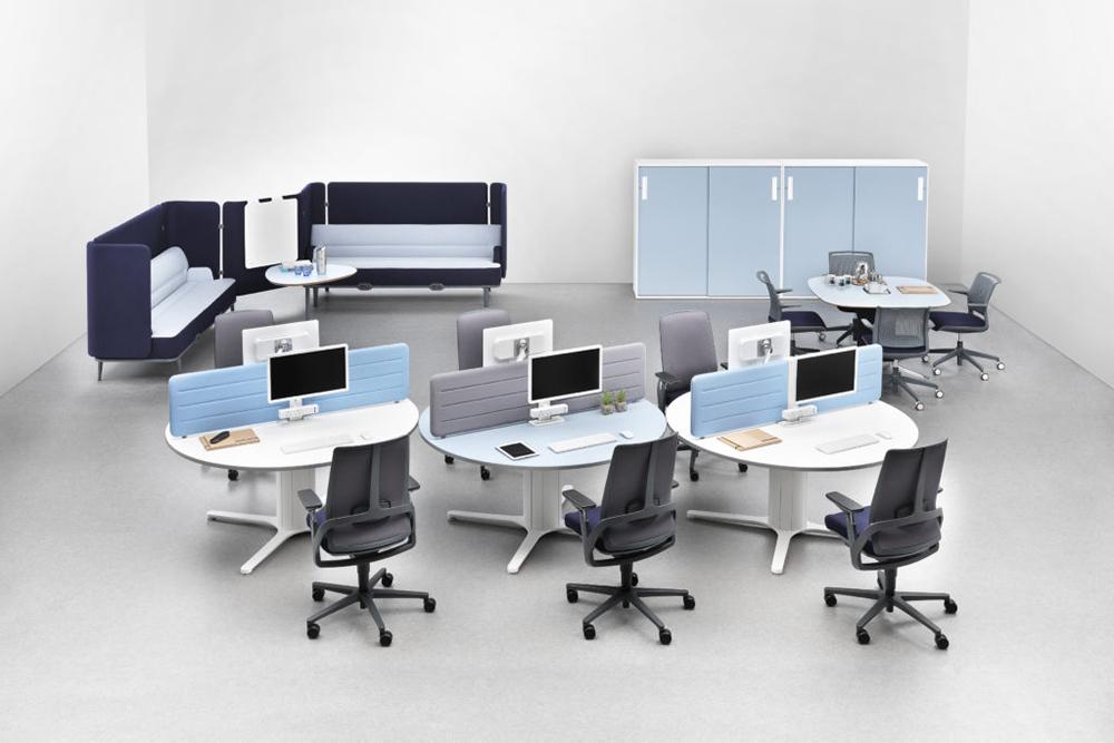2 person round workspace