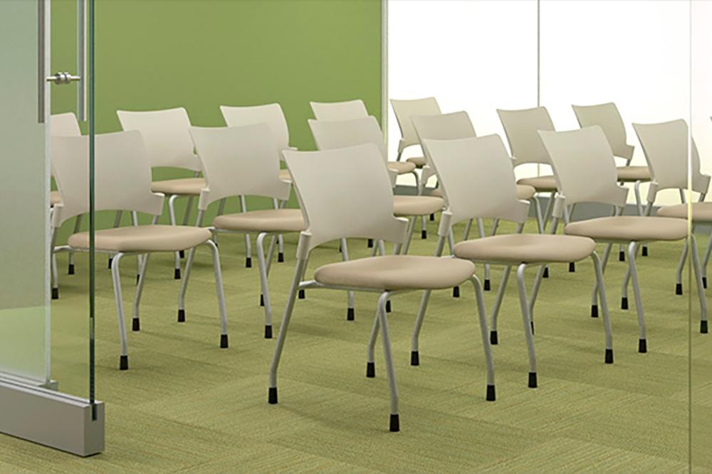 Plastic flex back traiing room chair