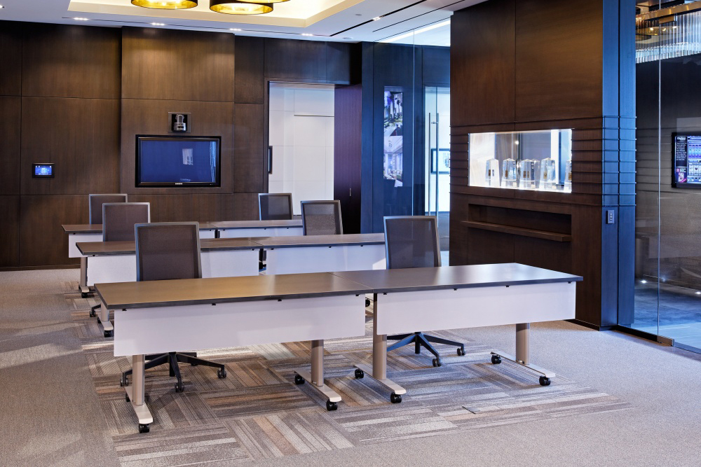 Training table with front panel