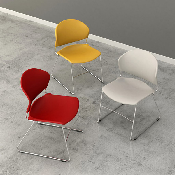 Colorful plastic chair