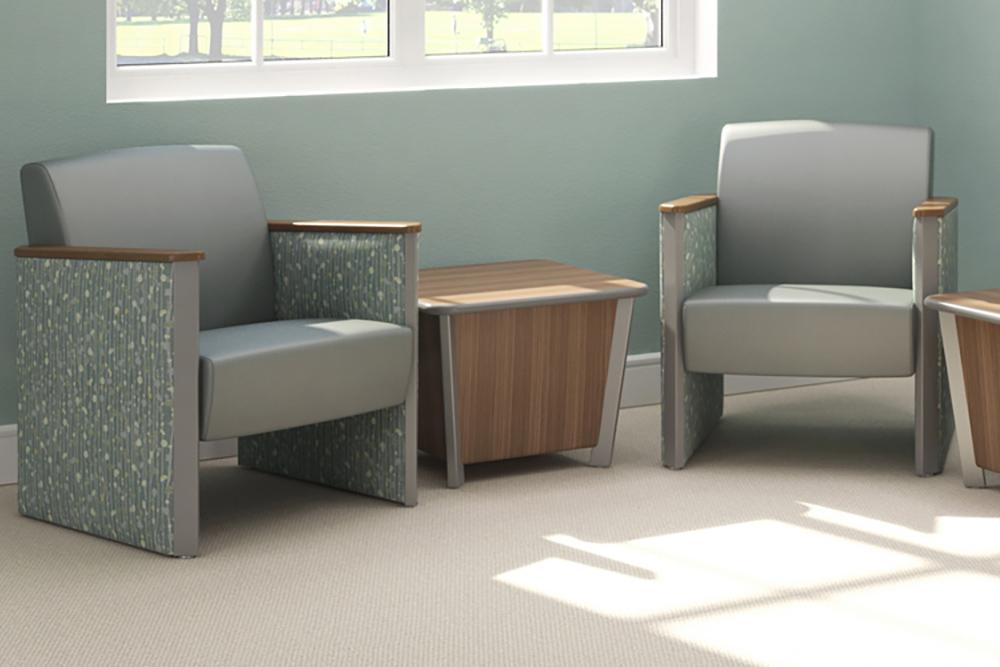 Silver edge and leg table