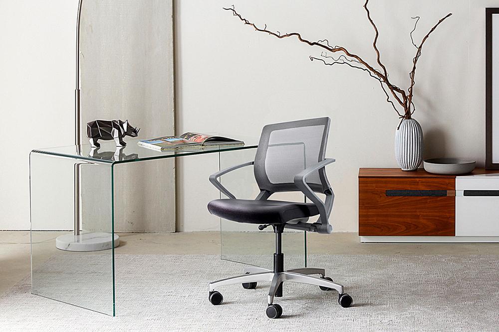 Silver task chair