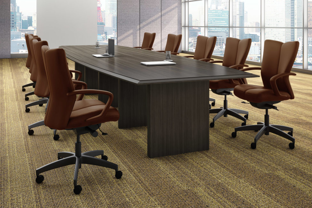 Executive conference room chair in leather