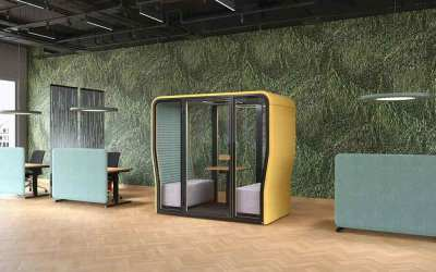 Create an Island of Privacy with Phone Booths and Pods