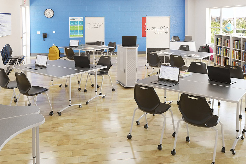 Stackable chairs for classroom