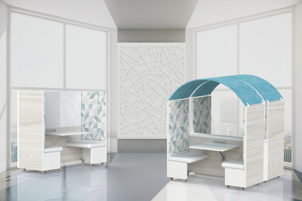 Enclosed seating in office space