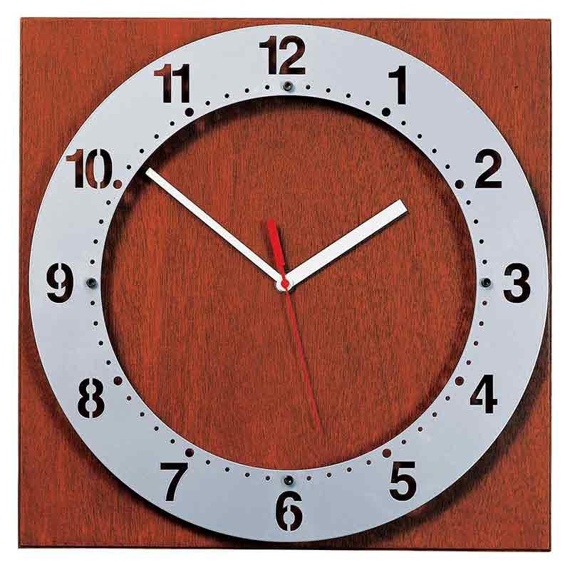Modern metal wall clock