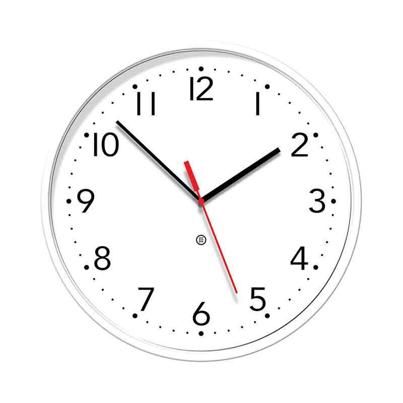 Slim white wall clock