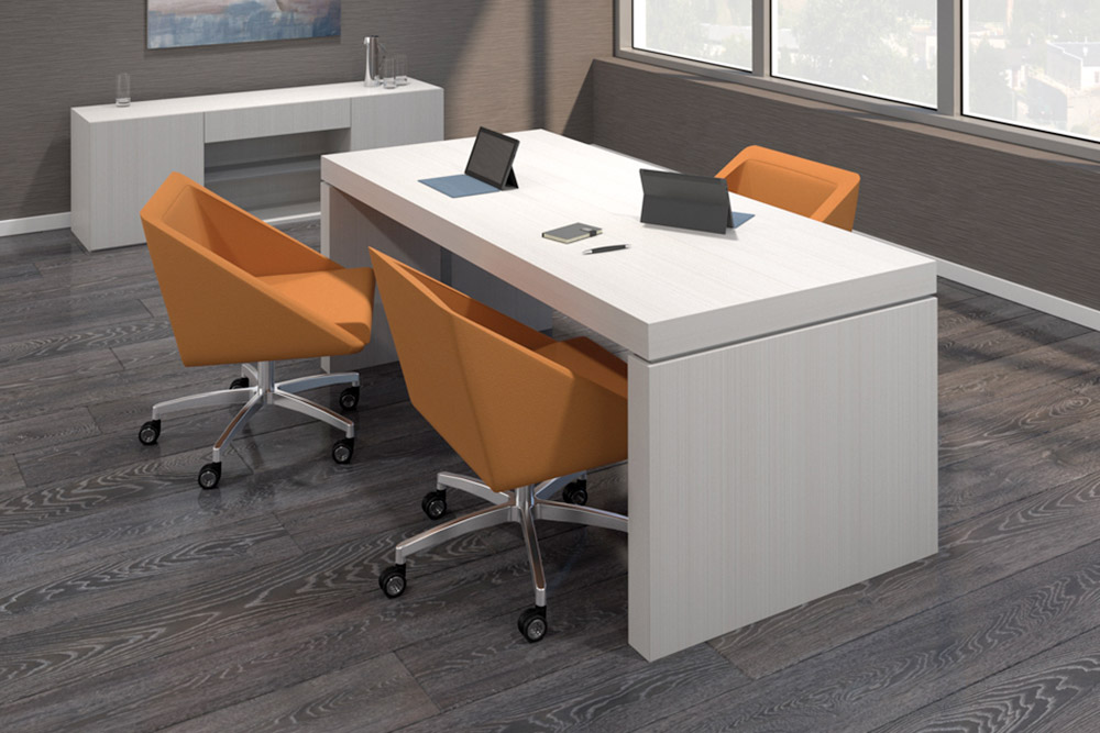 Swivel chairs with wheels around office desk