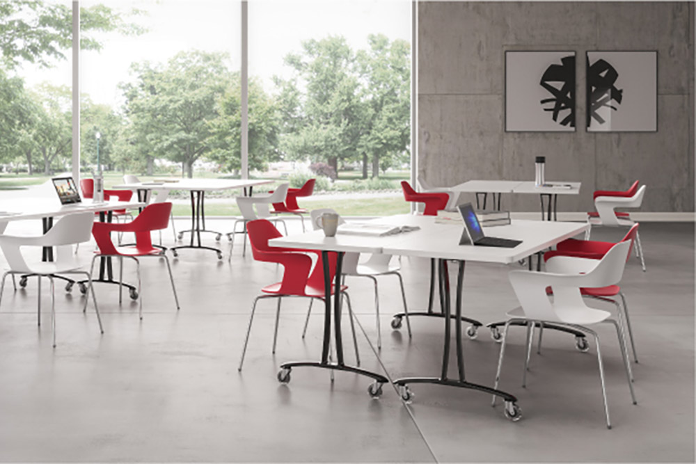 Institutional chairs and tables
