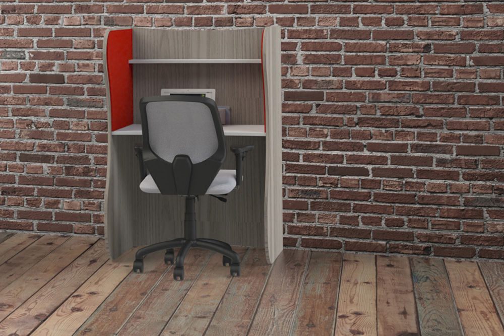desk with task chair
