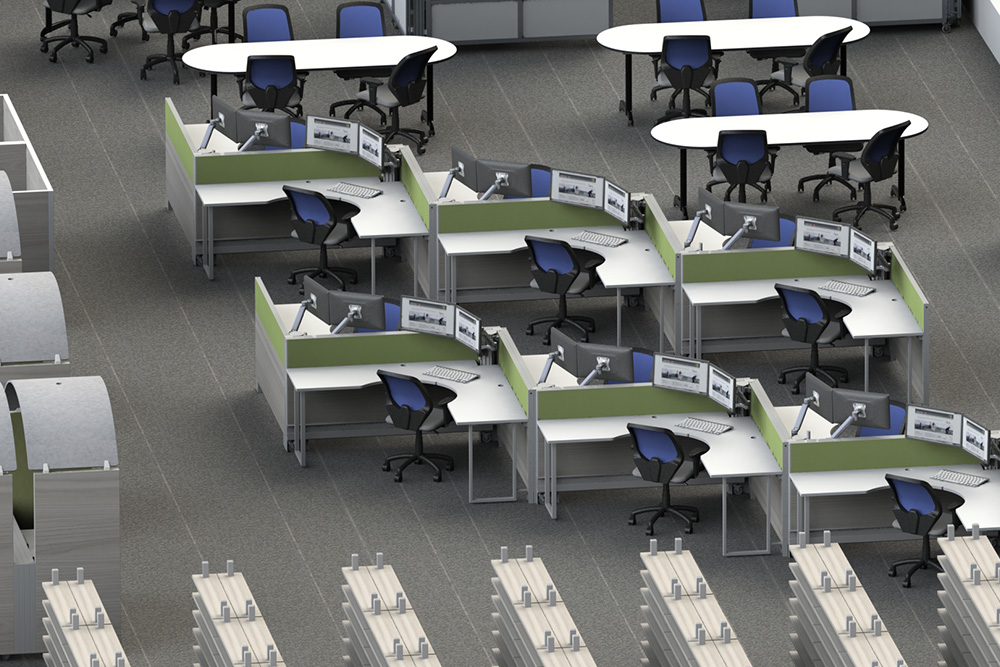 Swiftspace mobile desks in library setting