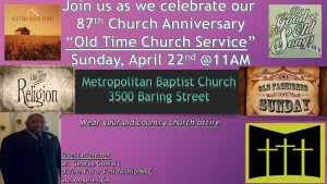 87th Church Anniversary