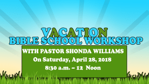 Vacation Bible School Workshop