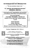 2012 MBDO Bataan Day invitation 5×8