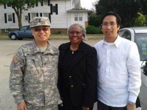 From left to right: Mr. Edward Brotonel, MBDO Director; Mayor Edwenna Perkins of Maywood; and Consul Romulo Victor M. Israel Jr. Photo: courtesy of MBDO