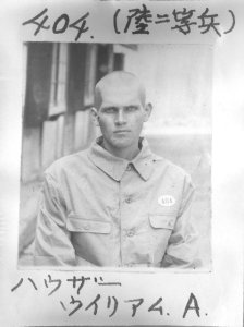 POW picture of PVT William Hauser, Co. B.