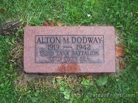 Pvt. Dodway headstone