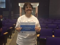 Lydia Nelson won the biggest ticket item – a 5 year lab license from Knowledge Matters valued at $1,195!