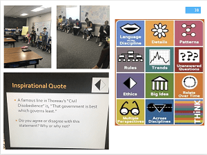 Teaching narrative writing to 6th graders in Jeff Lee's classroom at MBMS; Bringing new teachers to Pennekamp to observe Anna Gralnik's fifth graders having a Grand Conversation