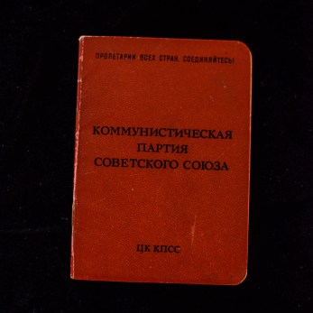 Soviet Communist Party Membership Book