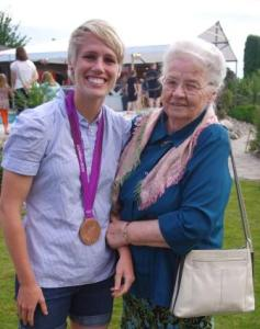 Retired missionary and King Road prayer warrior Anna Jantz, 85, has no TV. Each day during the Olympics, she would phone Cornelia Schmidt, Sophie's mother, to ask what time Sophie's game would be played – then set her alarm clock for the early morning to pray.