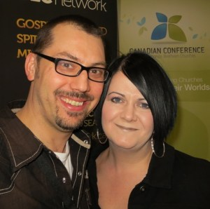Trevor and Lesley Rysavy were welcomed by the Alberta conference after their church, Urban Grace, officially joined ABMB.