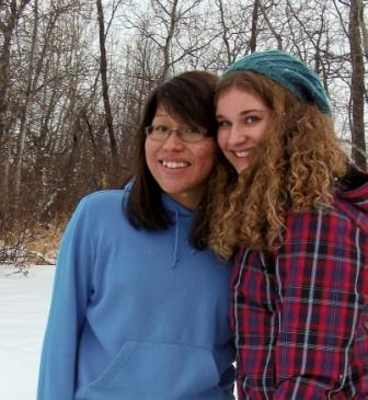 Keshia Cook with fellow Bethany College student Stephanie Chase.