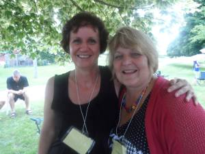 Jake's daughter,  Lori Willms Neufeld (right) at the ROCC reunion barbecue.