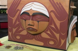 Carved by Coast Salish artist Luke Marston, the TRC Bentwood Box reflects the strength and resilience of residential school survivors and their descendants, and honours those who are no longer living.