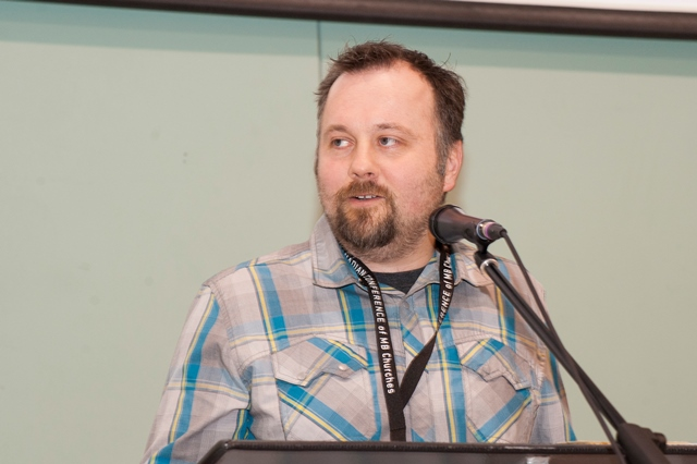 """We need to radically rethink how we hire youth pastors,"" says thirtysomething youth pastor Dave Easton from The Meeting Place, Winnipeg. ""We need to hire people who are primarily godly, not who are primarily hip. Who need people who are called to a lifetime of ministry to students, not who see it as a stepping stone. Of course, Jesus can interrupt our plans, and I'm open to that. But right now, I hope to retire a youth pastor,"" says Easton. PHOTO: Carson Samson"