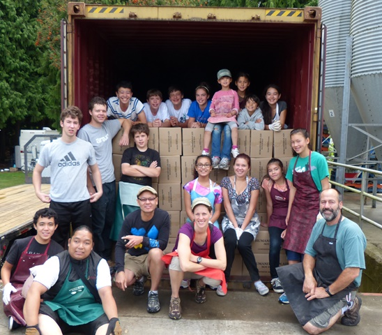 Killarney Park MB's youth group helped load a container with 1 million soup servings.