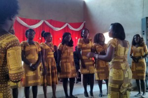 Several choirs performed at Sunday's celebration service.
