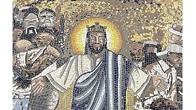 A detail from the mosaic at Christ the King Church in Sophiatown, Johannesburg.
