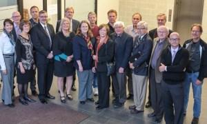 Representatives from the Mennonite Faith and Learning Society. PHOTO: Jennifer Watton, TWU