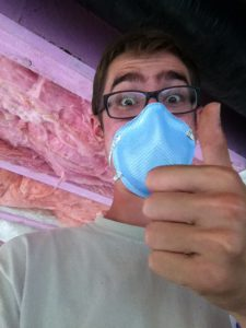 P&E MDS - Matthew Janzen insulating a home in High River