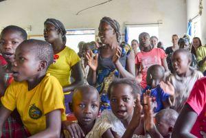 Worshippers in a Mennonite church in Kenya. PHOTO: Liesa Unger