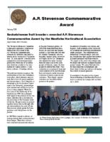 A.P. Stevenson Commemorative Award Newsletter 2019