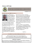 MHA Newsletter – February 2020 Issue