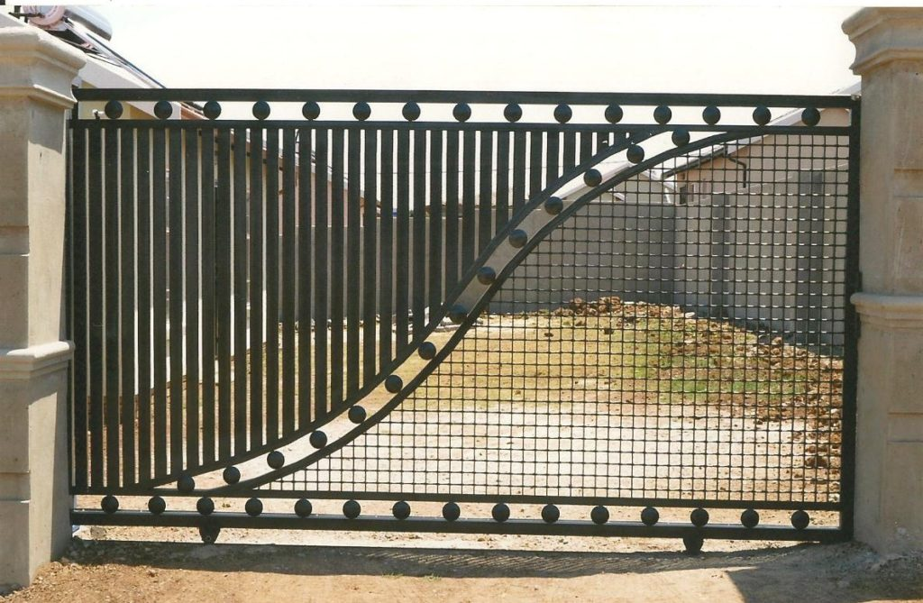 MBi Steelworks Manufactures and installs:  Pallisade Fencing Burglar Bar Security Door Sliding Security door Sliding Gates