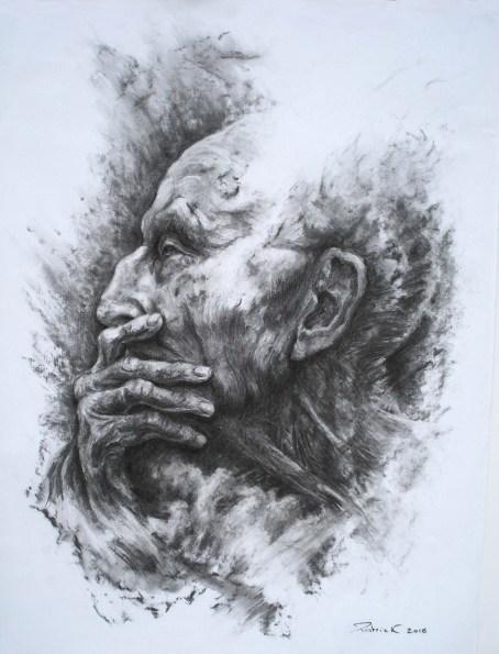dessin fusain portrait