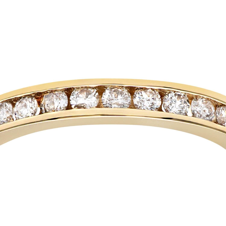 18CT YELLOW GOLD CHANNEL SET FULL ETERNITY DIAMOND RING