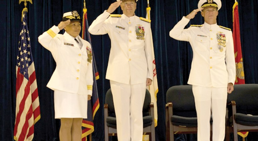 Rear Adm. Bolivar relieves Rear Adm. Payne from Joint Region Marianas