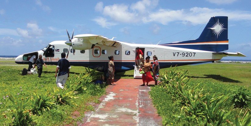 Marshalls mulls airplane purchase as national airline service disintegrates  BY GIFF JOHNSON,  Marshall Islands Correspondent